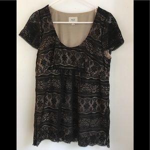 SALE💕ECI Black Lace Blouse Size 12
